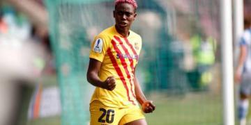 Oshoala celebrates another Barcelona hat-trick - Latest Sports News In Nigeria