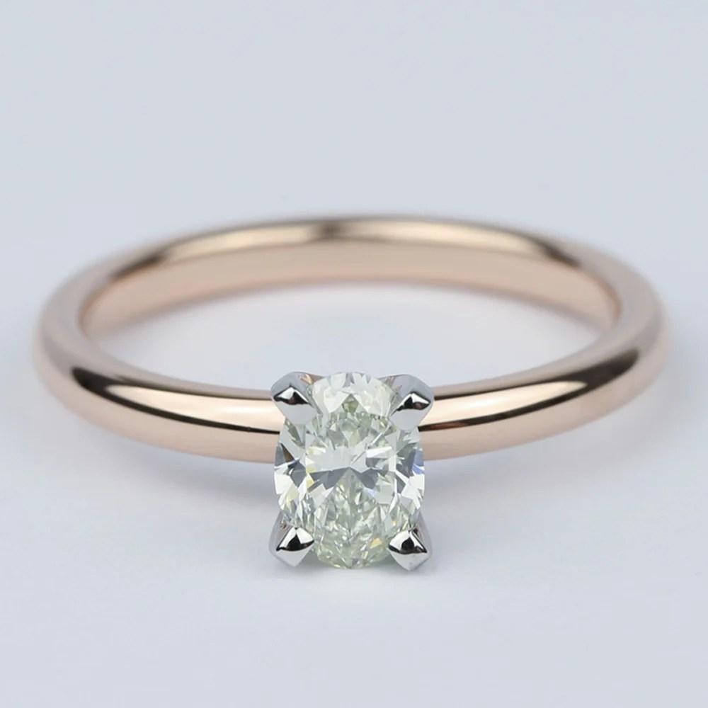 Comfort Fit Oval Diamond Engagement Ring 12 Carat