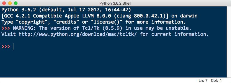 Python3.6 IDEL