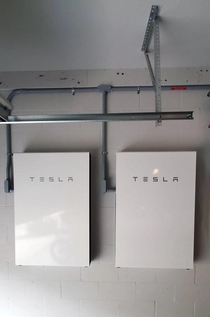 Two Tesla Powerwalls installed in home