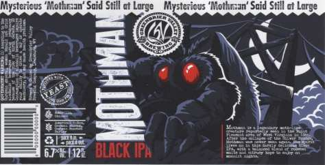 Mothman IPA label