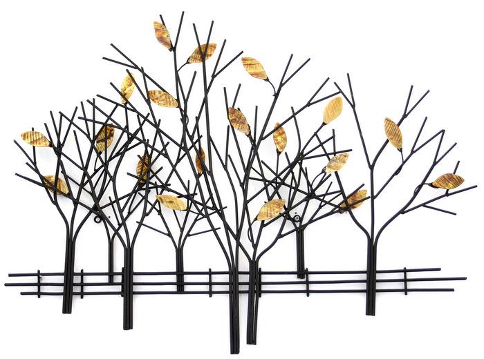 brilliant wall art    metal wall art autumn tree scene: tree scene metal wall art
