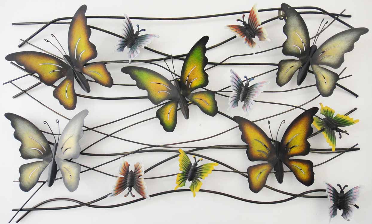 large metal wall art uk new contemporary or butterfly: tree scene metal wall art