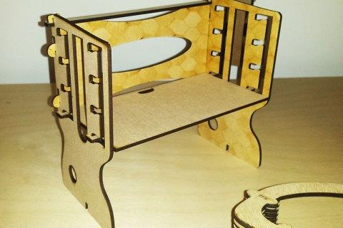 3D rising desk, miniature