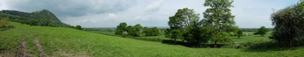 Breidden Hill behind Brimford