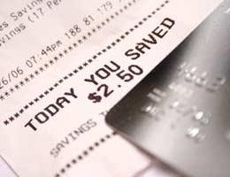 Debit card and receipt