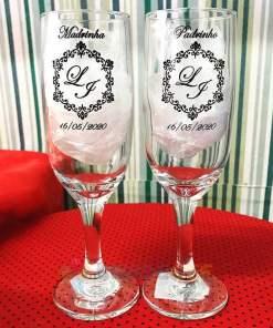Taças de Vidro Personalizadas de Champanhe Gallant 180ml 3