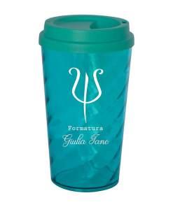 Copo de Café ou Chá Twister 500ml Personalizado (Copo Twister Com Tampa Bucks)