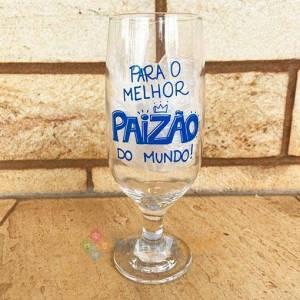 Taça de Cerveja Personalizada Para o Melhor Paizão do Mundo