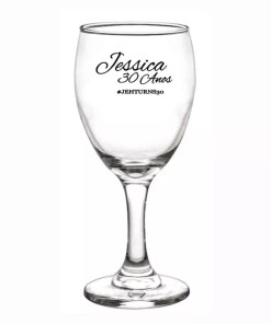 Taça de Vidro Aragon Água 300 ml Personalizadas