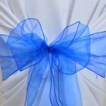 Noeud de chaise en Organza Bleu Roi