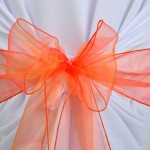 Noeud de chaise en Organza Orange