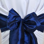 Noeud de chaise en Taffetas Bleu Marine