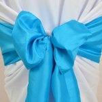 Noeud de chaise en Taffetas Bleu Turquoise