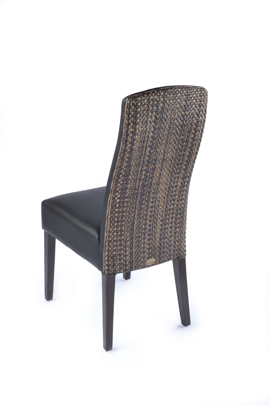Chaise Noire Dossier Loom Brin DOuest