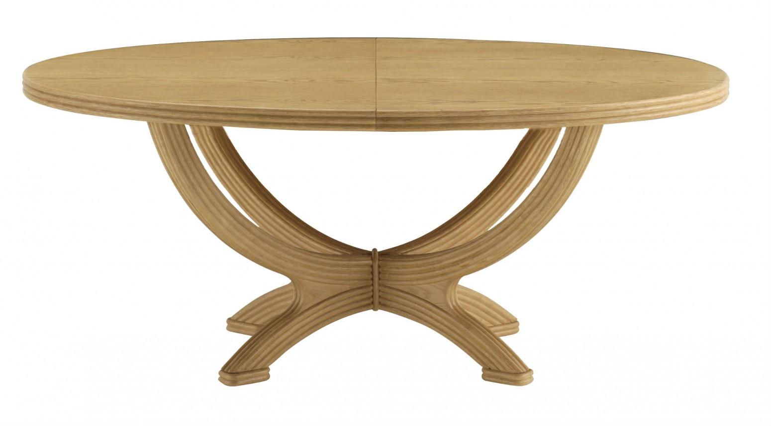 table ovale avec rallonge
