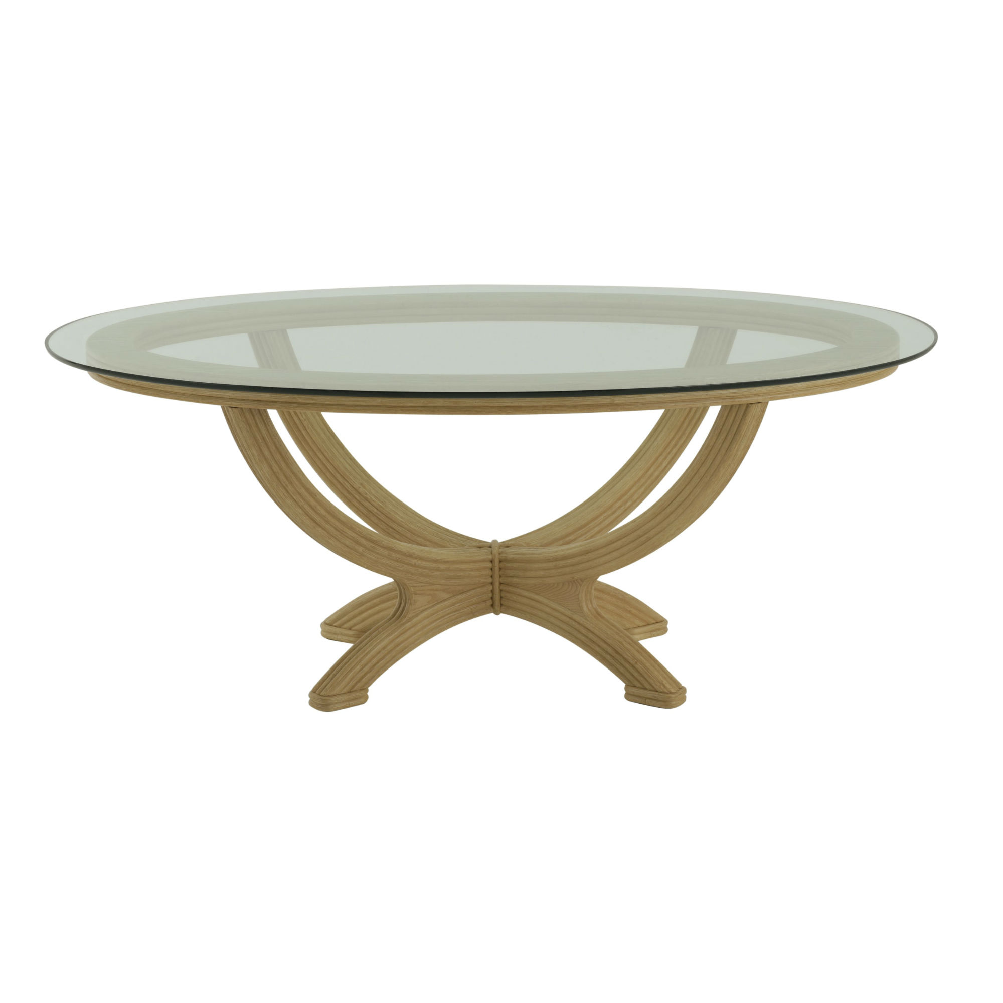 table ovale plateau verre brin d ouest