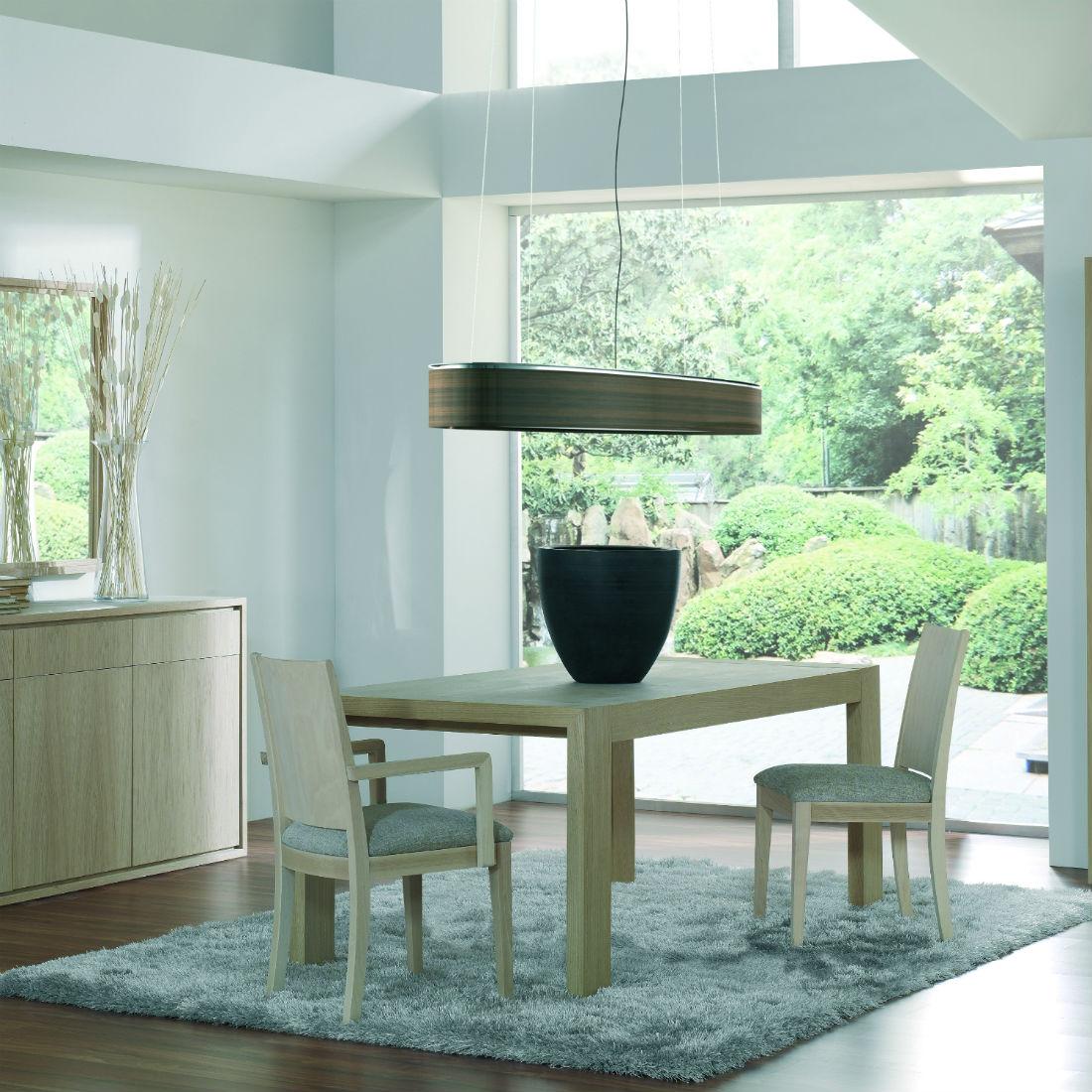 table carree extensible en bois