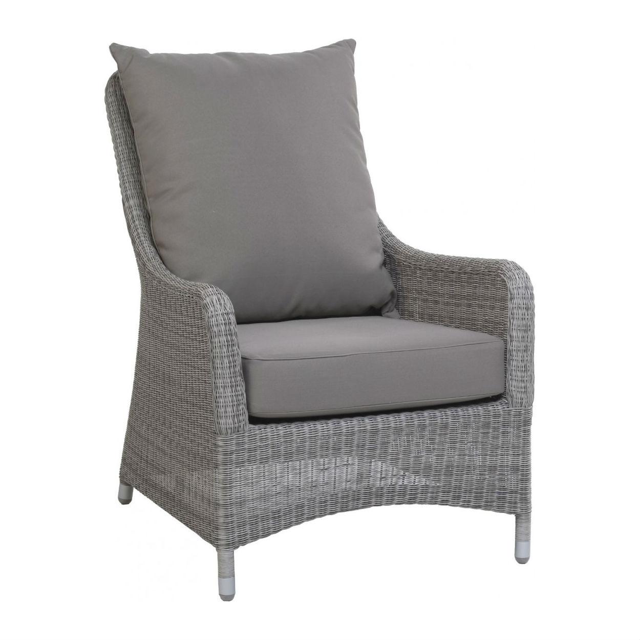 fauteuil de jardin confortable en resine tressee