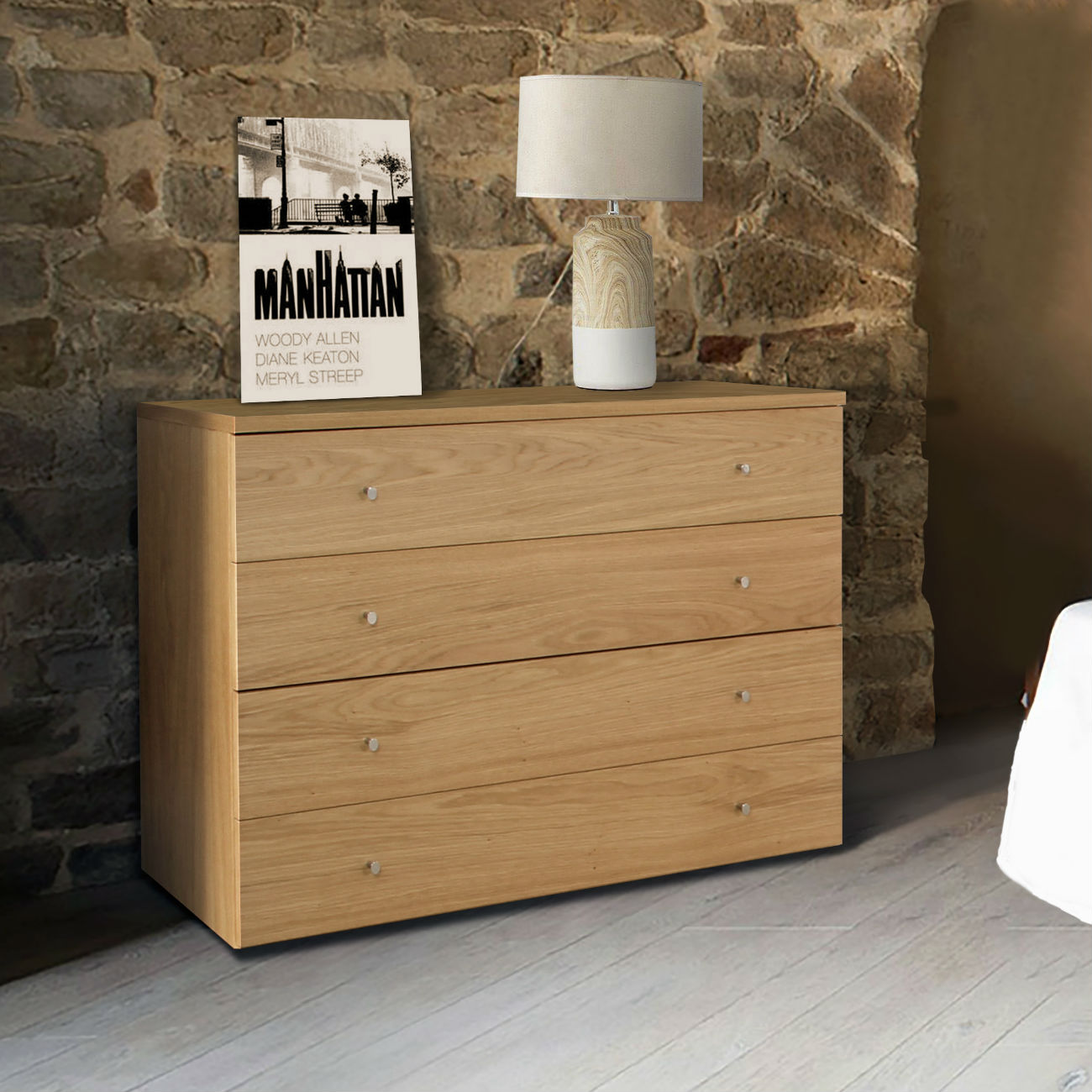 commode design chambre adulte 4 tiroirs