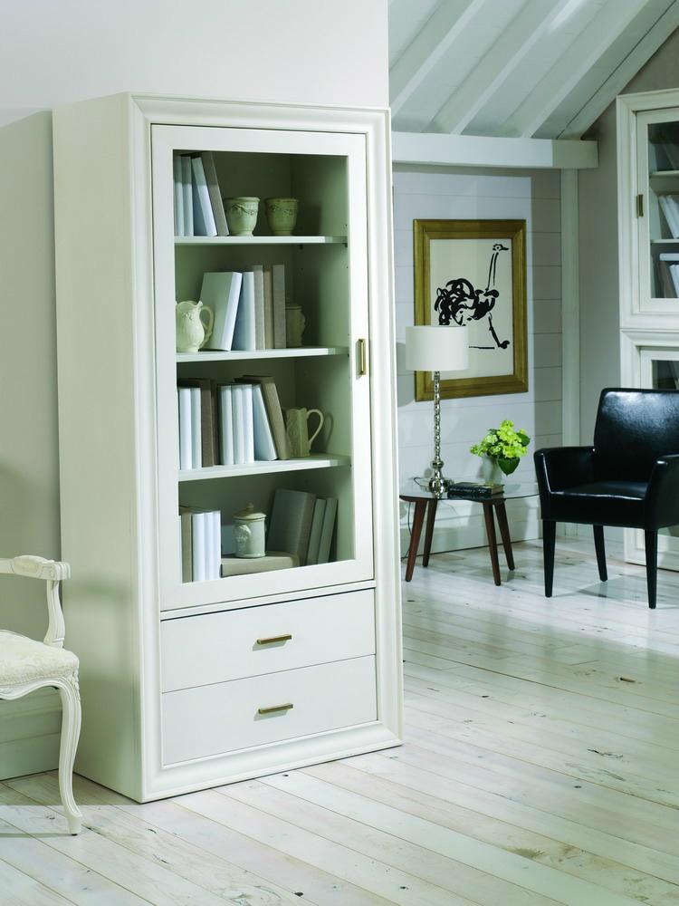petit meuble avec vitrine en pin