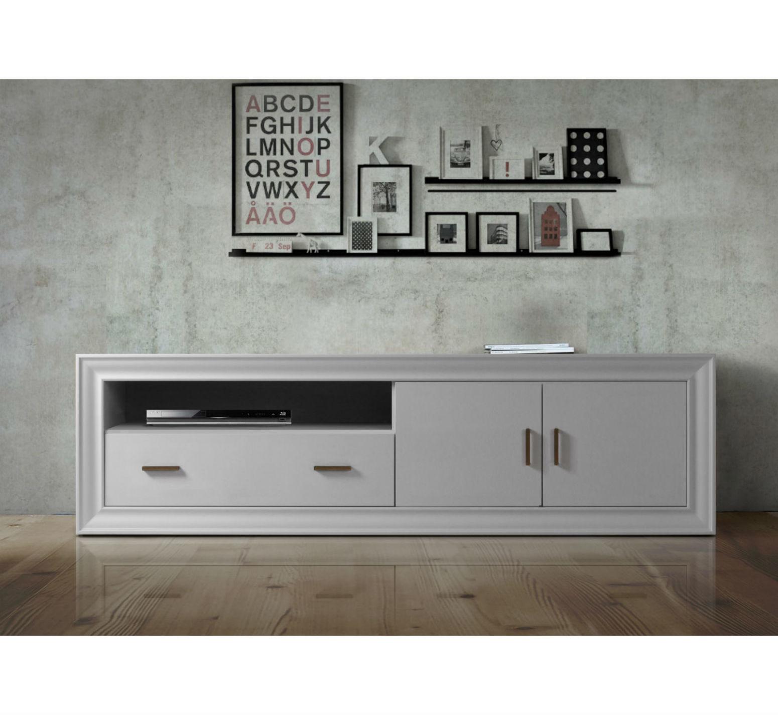 meuble tv en bois hetre