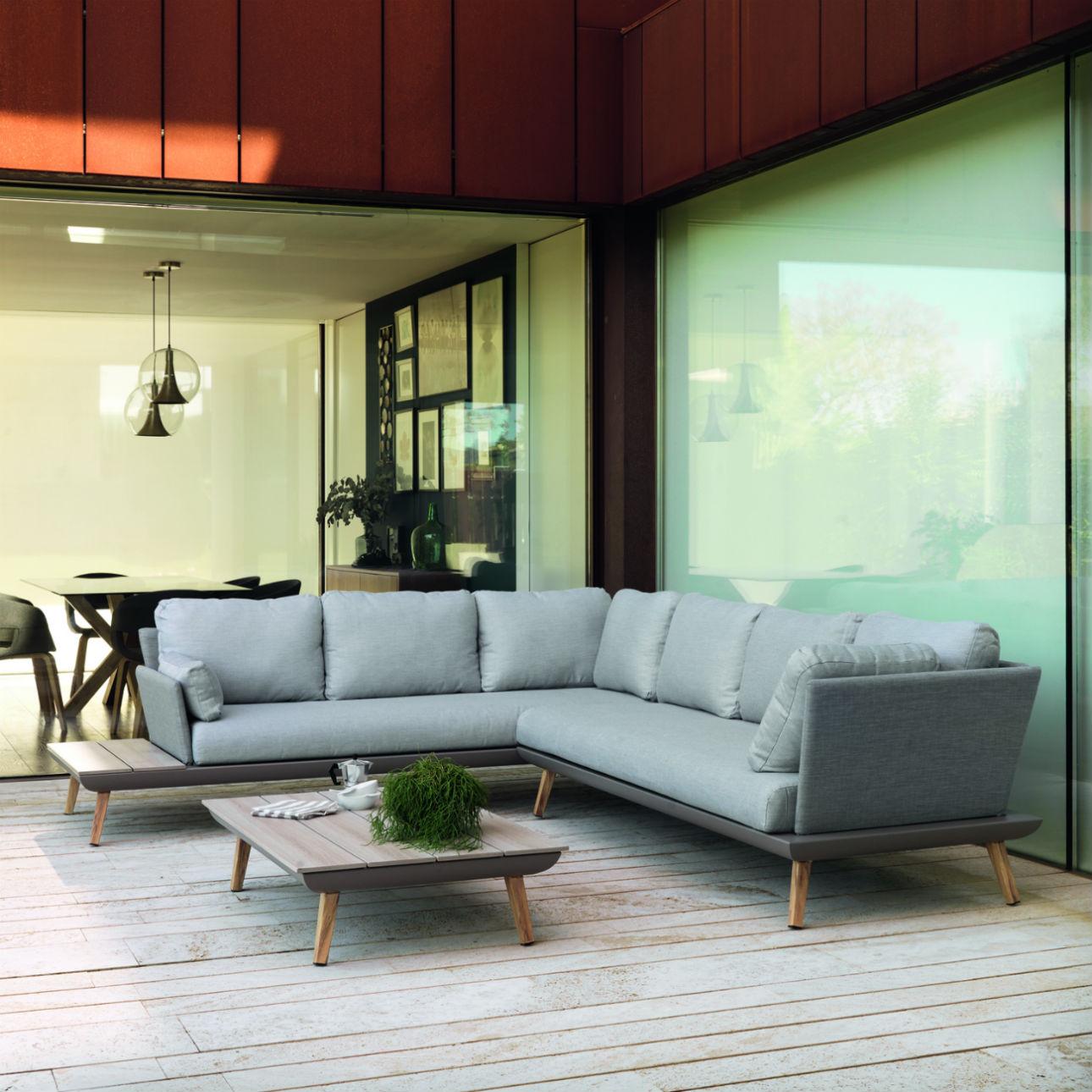 canape d angle de jardin 5 6 places avec table basse