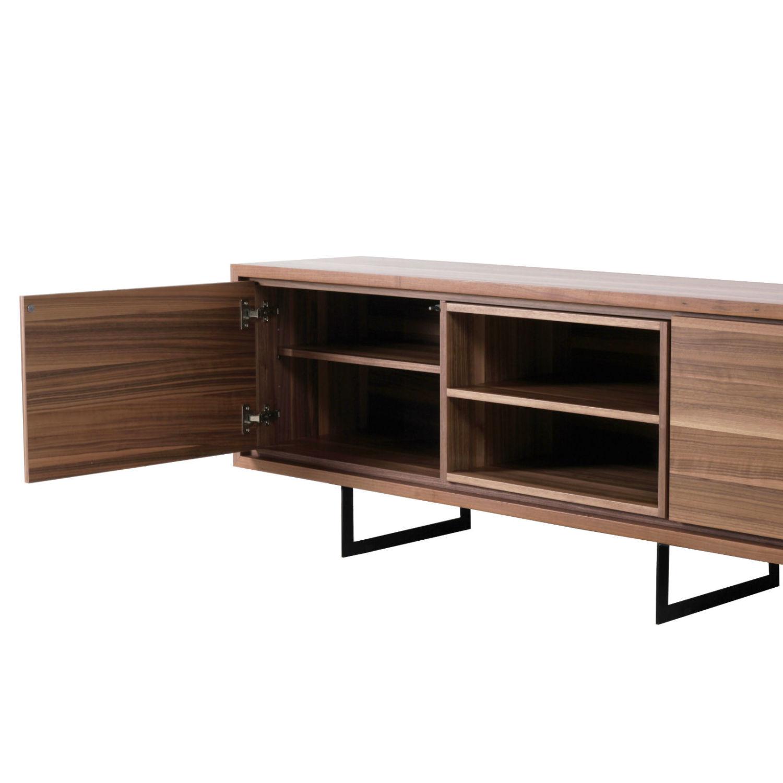 meuble tv enfilade 3 portes 2 niches