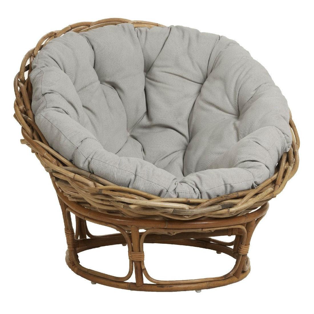 fauteuil rond en rotin confortable