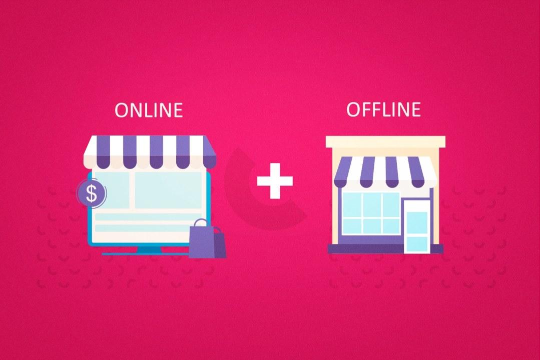 ilustração-com-imagem-de-ecommerce-e-loja-fisica-consumidor-omnichannel