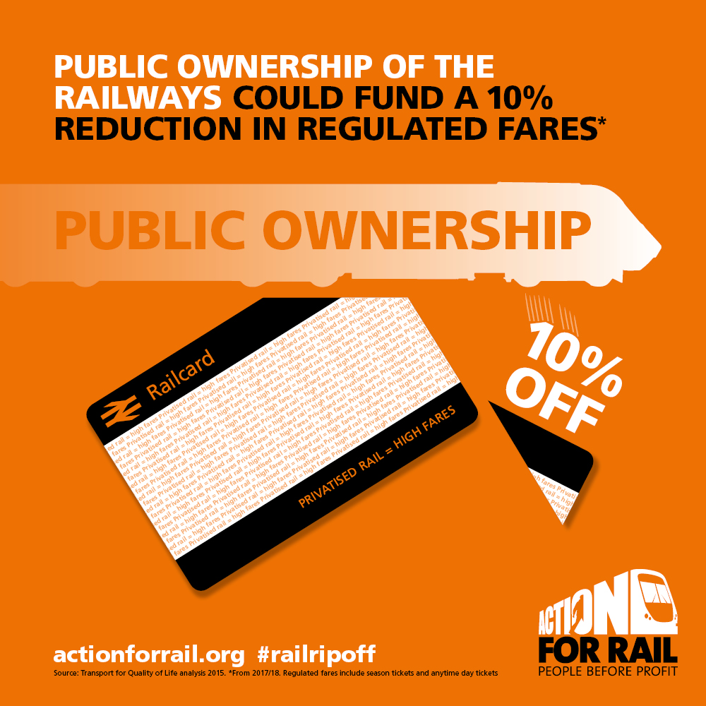 Protest for an Affordable Railway under Public Ownership