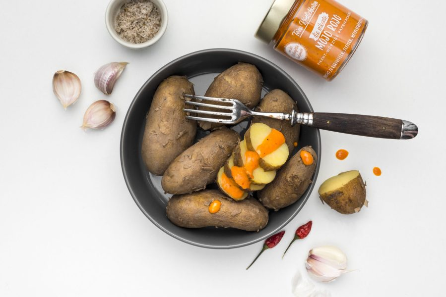 Feinen Köstlichkeiten Kartoffeln Paste Papas Bravas
