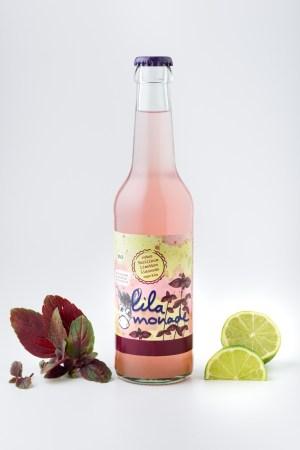 Rotes Basilikum-Limetten Limonade Lilamonade Produktbild 1