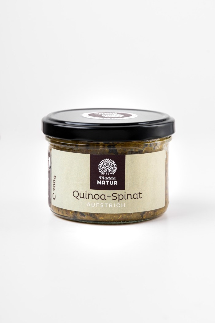 Quinoa-Spinat-Aufstrich Mudda Natur Produktbild 1