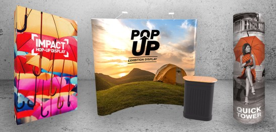 Pop Up Trade Show Exhibition Display Stands