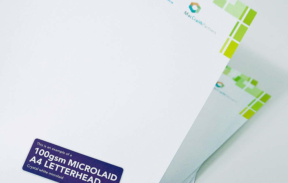 Microlaid A4 Custom Printed Business Letterhead