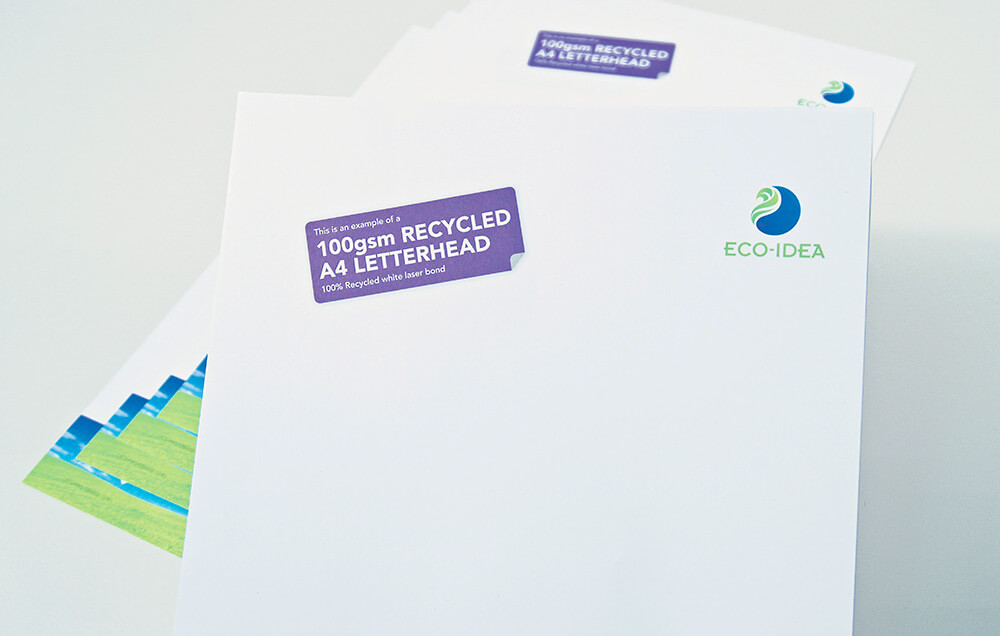 Recycled Paper Business Letterhead Printer