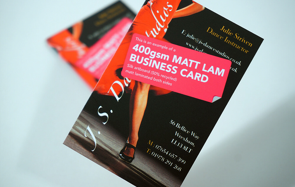 Matt Laminated Custom Printed Business Cards