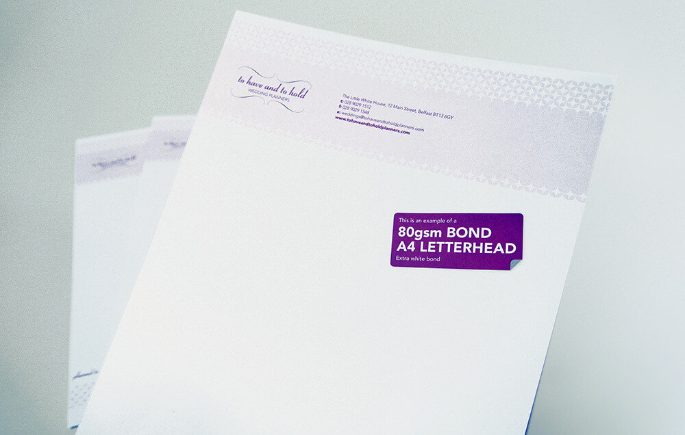 Standard Business Letterhead Printing