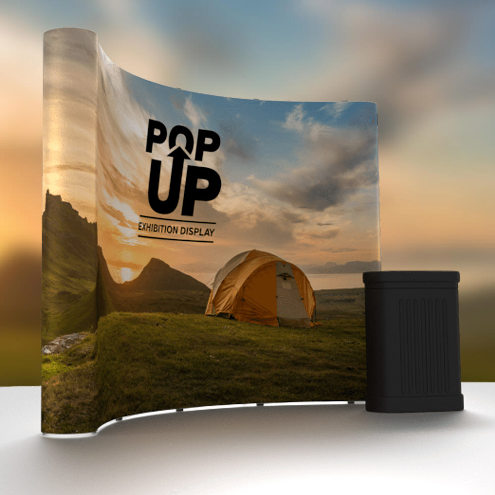 Curved Trade Show Exhibition Display Stand