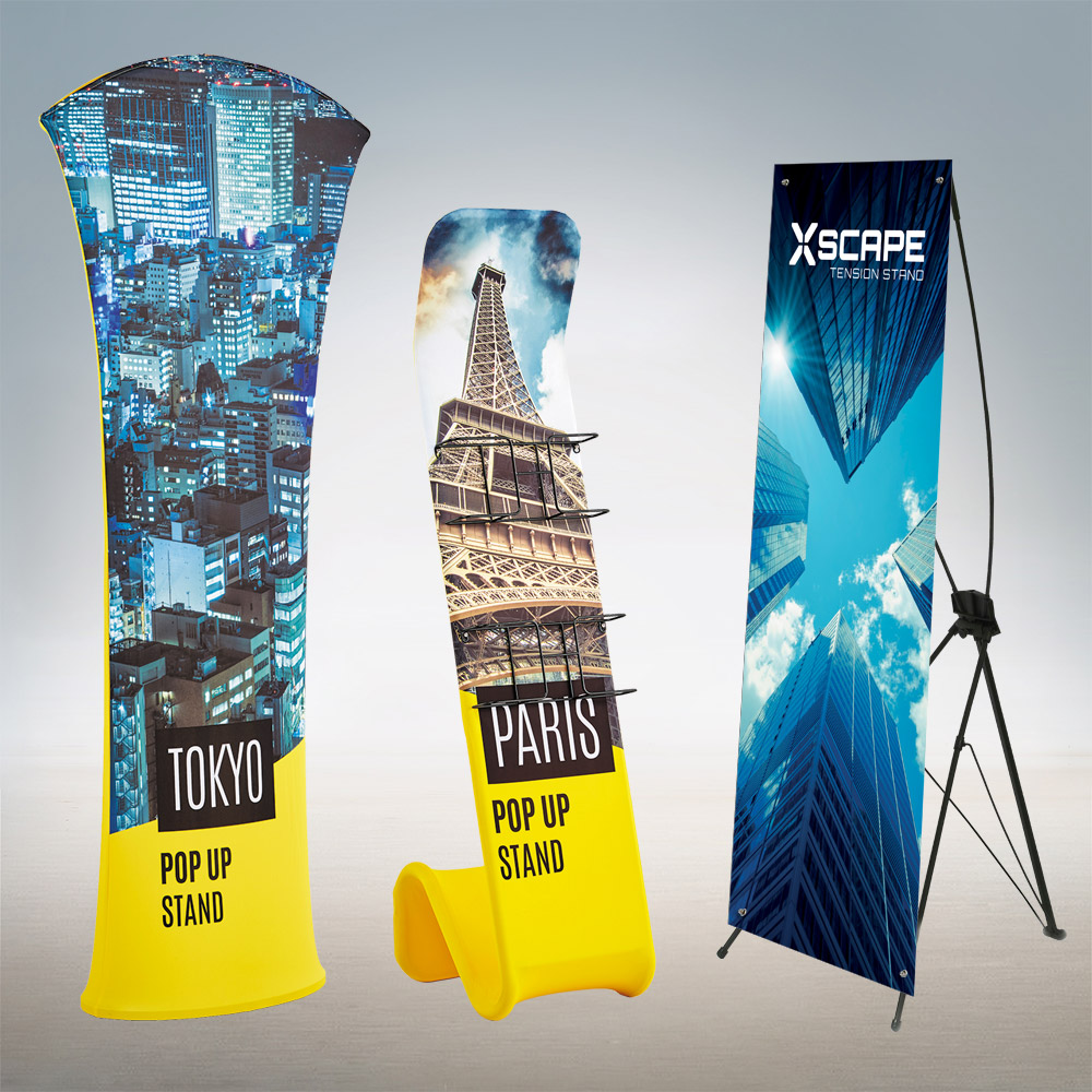 Trade Show Exhibition Banner Stands and Pop Ups