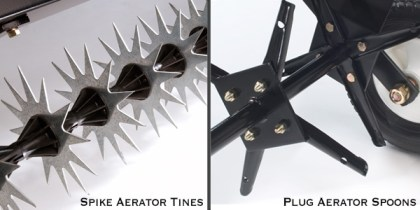Spike Tines vs Plug Spoons - What is lawn aeration?