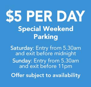$5 speaking weekend parking