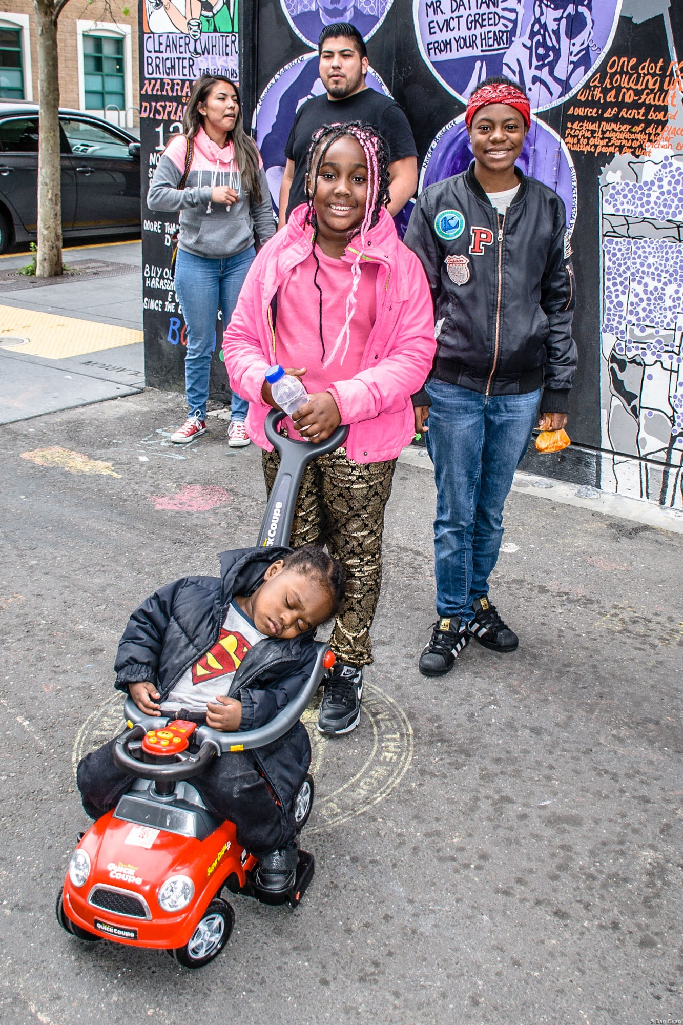 African-American mother and kids, San Francisco