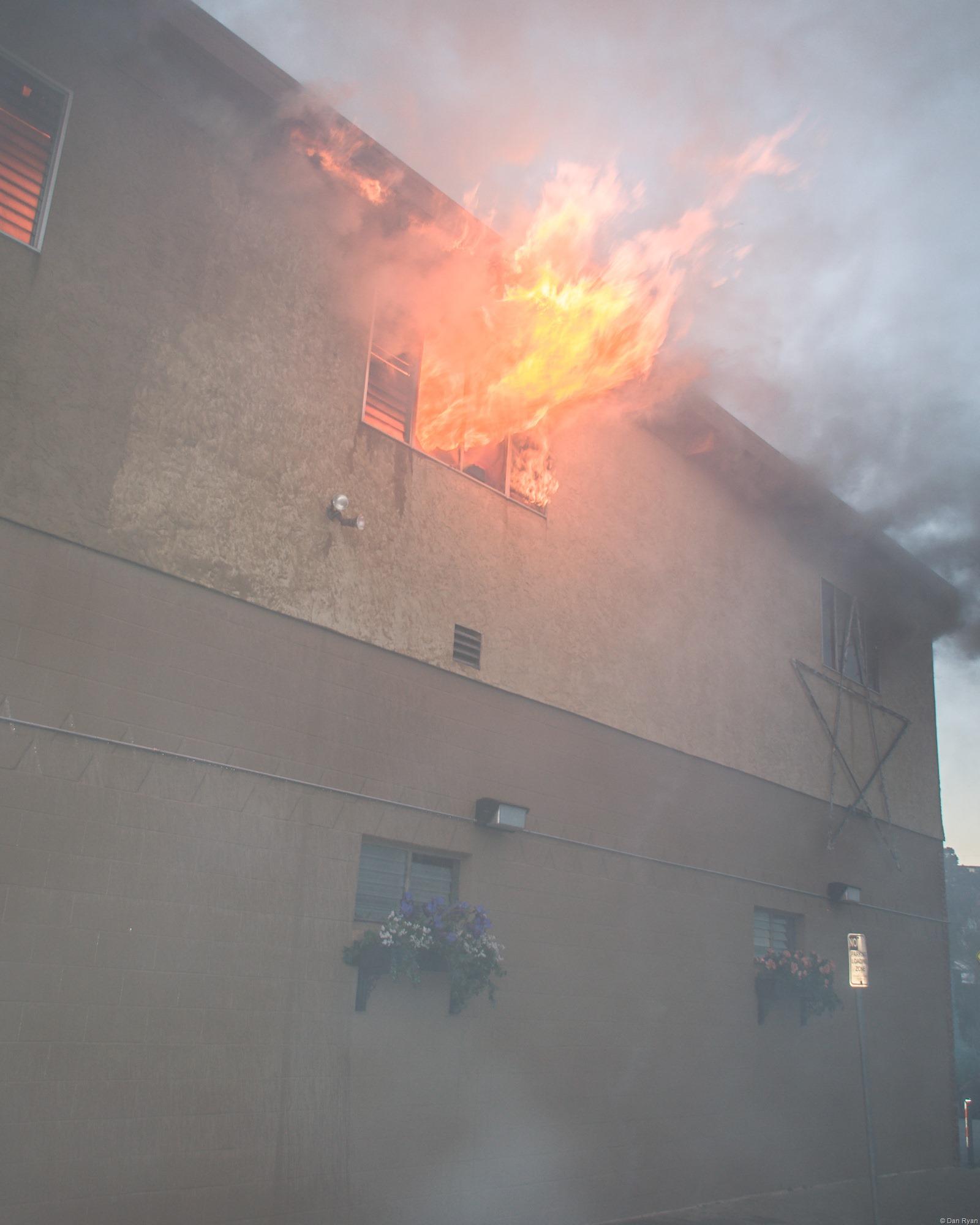 Brisbane California bar on fire