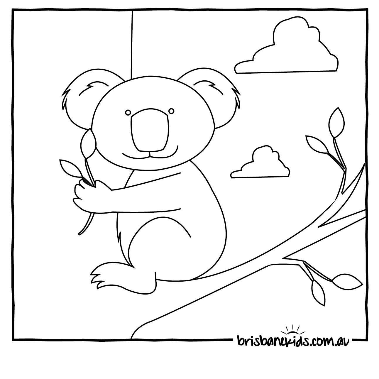 Australian Animals Colouring Pages