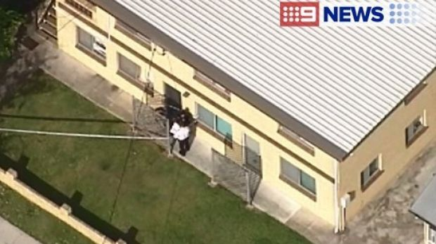A man was stabbed in East Brisbane on Monday afternoon.