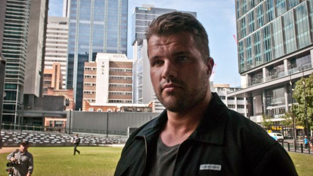 Gable Tostee attends trial for murder of Warriena Wright who fell off his balcony after trying to leave him during a bad Tinder date