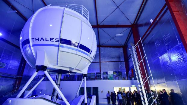 The new Thales AW139 helicopter simulator is the centre point of Aviation Australia's new Brisbane facility.