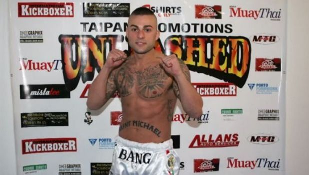 "Antonio Bagnato, also known as ""Tony Bang"", when he fought Muay Thai in Sydney in 2012."